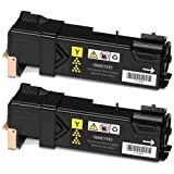 Doitwiser ® Compatible Yellow Toner Cartridges For Xerox Phaser 6500N 6500 6500DN WorkCentre 6505N 6505DN - 106R01596 - Colour High Yield 2,500 Pages (2 Pack)