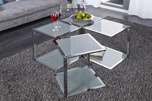 beistelltisch glas chrom com forafrica. Black Bedroom Furniture Sets. Home Design Ideas