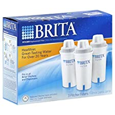 Brita Replacement Filter, Pitcher, 3 filters