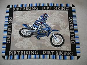 A Dirt Bike Motocross Fleece Throw Blanket