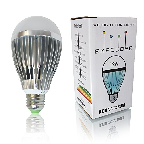 Expecore LED Bulbs For Home and Office, 6000k Daylight 12 watt = 100 watt Equivalent Incandescent Bulbs 1000 lumens, LED Light bulbs Energy Efficient, Non-Dimmable, E26, 1-Pack (Home Light 1000 Lumens Led compare prices)