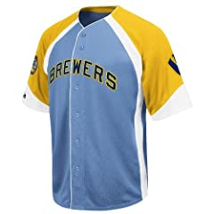 MLB Milwaukee Brewers Cooperstown Wheelhouse Jersey by Majestic