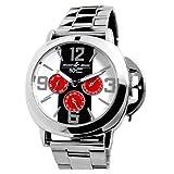 Disney ディズニー ミッキー 生誕 80周年記念 隠れミッキー リューズカバー 腕時計 シルバー スワロフスキー ステンレス使用
