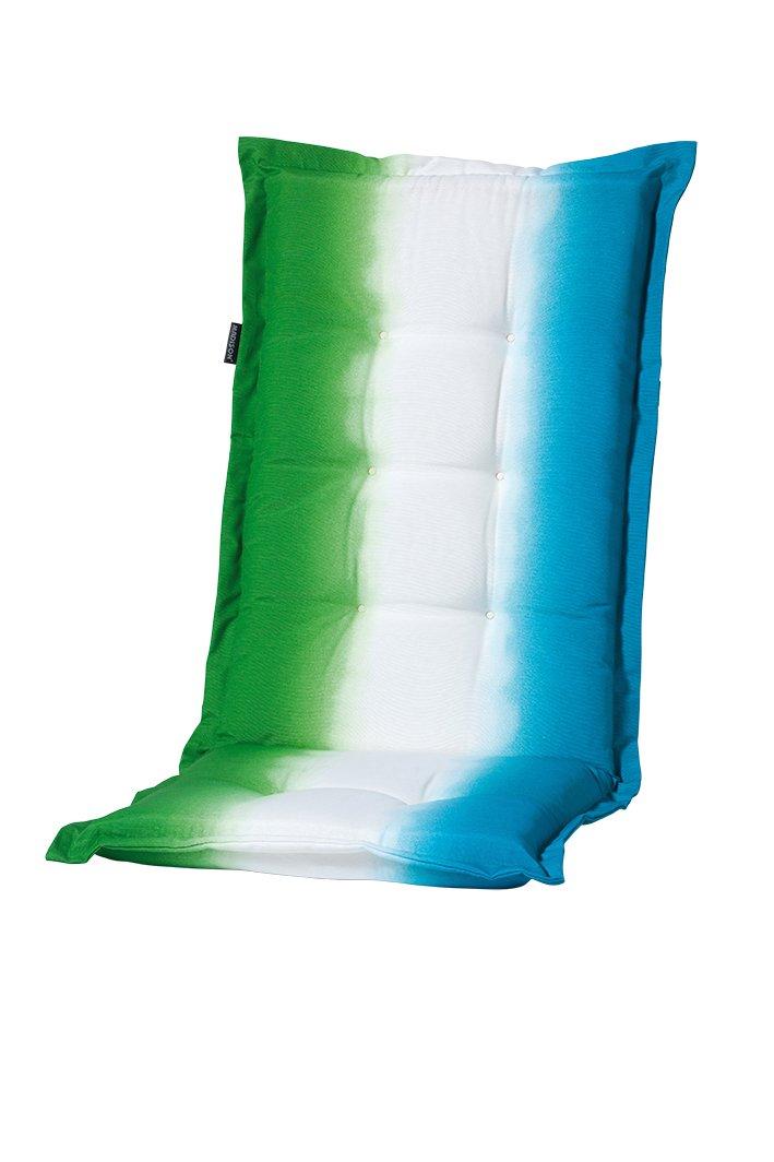 8 cm Luxus Hochlehner Auflage C 337, blau weiß grün gestreift günstig bestellen