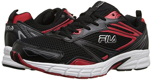 Fila Men's Royalty-M Running Shoe, Black/Fila Red/White, 10.5 M US