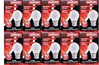 10 x EVEREADY Classic Golf Ball 40W, BC B22 B22d, Clear Round Light Bulbs, Bayonet Cap, Mini Globes Incandescent Dimmable P45/G45 Lamps, Mains 240V from EVEREADY