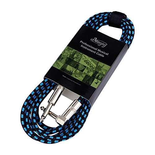 mugig-professional-instrument-lead-cable-10ft-3m-1-4-63mm-for-mono-braided-electric-guitar-bass-keyb