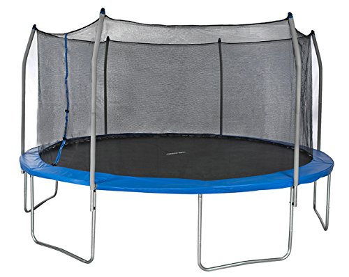 Merax-Round-Trampoline-and-Safety-Enclosure-Set-with-Spring-Pad-Blue-15FT