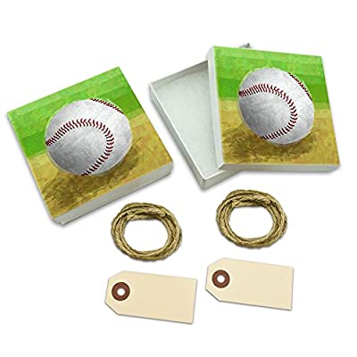 Baseball White Gift Boxes Set of 2