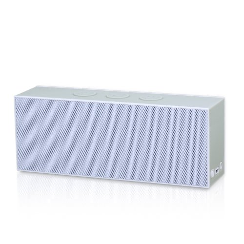 August Se30 Portable Bluetooth Speaker - Compact Wireless Soundbar With 3.5Mm In And Rechargeable Battery (Gray)
