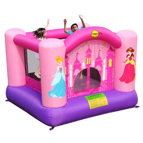 Girls Pink Bouncy Castle - Pink Kids Princess Duplay - Garden Bouncy Castle Toy
