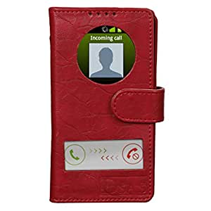 Dsas Artificial Leather Flip cover with screen Display Cut Outs designed for Nokia Lumia 1320