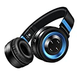 Wireless Headphones, Sound Intone P6 Stereo Bluetooth Headphones with Microphone Over-ear Foldable Portable Music Headsets for Cellphones Laptop Tablet TV Headphones(Black Blue)