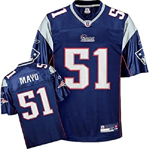 NWT New England Patriots #51 Jerod Mayo NFL Replica Mens Home Jersey 4X-Large by Reebok