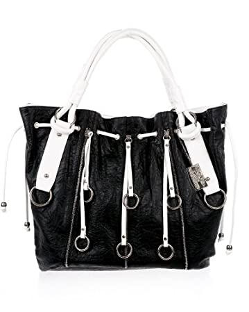 bebe Contrast Zipper Tote from bebe.com