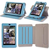 i-Blason Google Nexus 7 inch Tablet Genuine Leather Case Cover-Blue ~ i-Blason