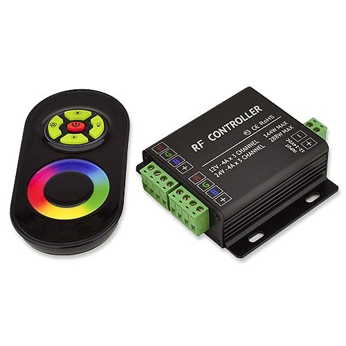 Ledwholesalers Music Controller With Audio Input Port And Rf Remote 12 To 24 Volt, 3335-Rgb