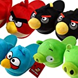 ANGRY BIRDS Boys Girl Slippers Soft Plush Stuffed Cuddly Toys Mens Womens Ladies Childrens Kids
