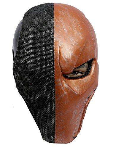 [Deathstroke Mask Batman Arkham Origins Cosplay Costume Helmet Halloween] (Deadshot Arrow Costume)