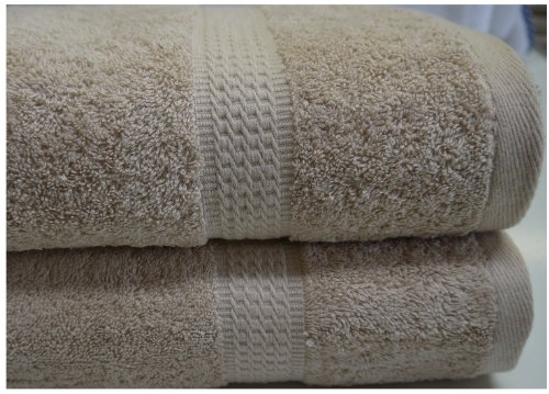 Beige Bath Sheet Towel Egyptian Cotton 600 gsm 100x150 cm Large Soft Absorbent
