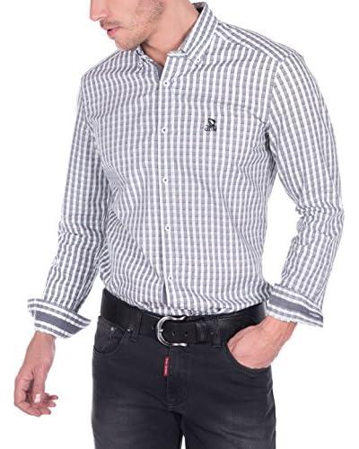 Giorgio Di Mare Camisa Hombre Gris / Blanco
