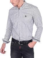 Giorgio Di Mare Camisa Hombre (Gris / Blanco)