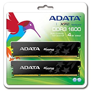 ADATA DDR3 1600Mhz 4GB Kit 2 x 2GB CL9 Desktop Memory AX3U1600GB2G9-2G