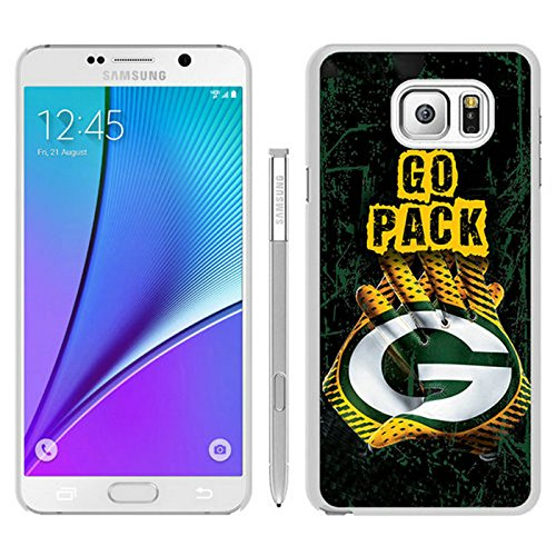 Generic Green Bay Packers White Samsung Galaxy Note 5 Shell Phone Case,est Cover