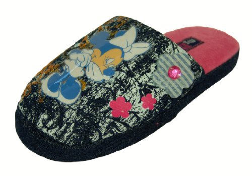Girls Disney Minnie Mouse Blue Jewel Slippers Size 12 Infant Kids Style 001