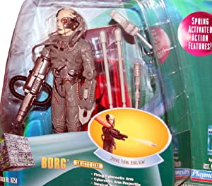 BORG Star Trek: The Next Generation 1998 Warp Factor Series 1 Deluxe Action Figure with Spring-Firing Borg Arm