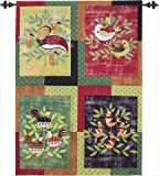 Manual Woodworkers and Weavers SWGRP Graphic Partridge Printed Wall Hanging Vertical 26 X 36 in.