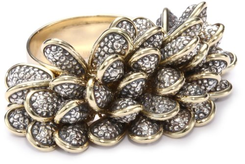 Moritz-Glik-New-Wave-18K-Gold-Oxidized-Silver-and-Diamond-Textured-Beaded-Ring-Size-7