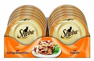 Sheba Feine Filets mit Geflügelbrustfilets, 24er Pack (24 x 80 g)