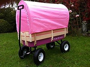 tuff terrain girls pink canopy wagon trailer toys games. Black Bedroom Furniture Sets. Home Design Ideas