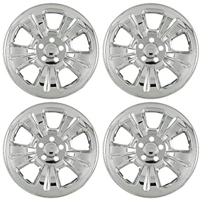 "Set of 4 Chrome 15"" Wheel Skin Hub Covers w Center 2003 - 07 Subaru Forester w 16x6 Inch 5 Lug 5 dimpled Spokes Steel Rim - aftermarket: IMP/52X"