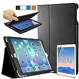 iPad Air ���� ���ޡ��ȥ쥶����������& �վ��ݸ�ե���ࡡ�ʥ��ꥢ�����ס� & �ۥ�������ȡʾ��ˡڣ������åȡ� �����ȥ����ǽ�Ĥ� (iPad Air 2013, �֥�å� 22101)