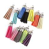 4cm Velvet Tassel Pendant Charms for Bag Craft Key Chain Decor Pack of 12 Colorful