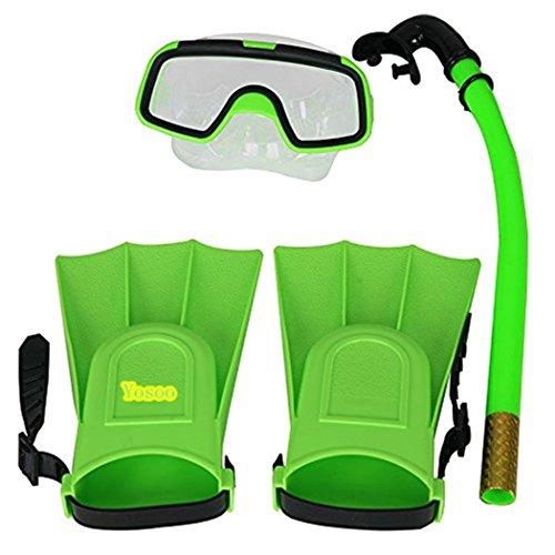 yosoo-children-kids-swimming-diving-silicone-fins-snorkel-scuba-eyeglasses-mask-snorkel-silicone-set