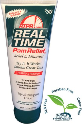 Best Price Real Time Pain Relief 7 oz Tube Topical Analgesic Lotion
