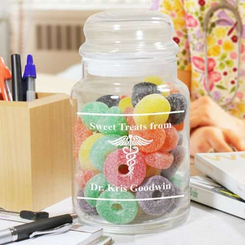 Personalized Doctor Treat Glass Jar, 26 oz. (Doctor Candy Jar compare prices)