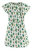 Boden Green Sprigged Cotton Dress with Short Sleeves & Elasticated Neckline (Age 2-3 years)