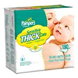 51 p%2Bpce%2B4L. SL160  Pampers Sensitive ThickCare 3X Wipes 180 Count (Pack of 4) Reviews