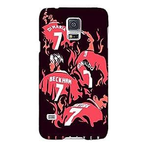 Jugaaduu Manchester United Beckham Ronaldo Di Maria Back Cover Case For Samsung Galaxy S5