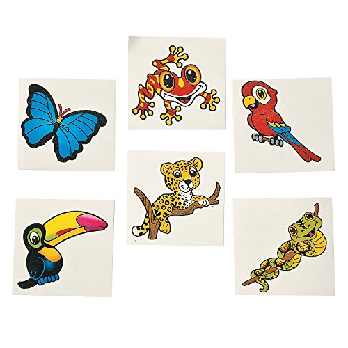 Fun Express Rain Forest Friends Tattoos (6 Dozen)
