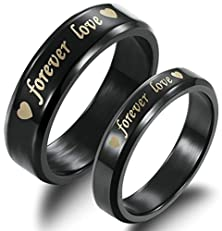 """buy His & Men'S For """" Forever Love"""" Promise Ring Tungsten Wedding Engagement Bands 6Mm Us Size 9"""