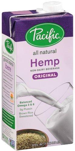 Pacific Foods Hemp Milk, Original, 32-Ounce Boxes, (Pack of 12)