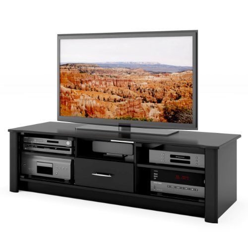 Sonax BX-6010 Bromley 60-Inch Midnight Black TV/Component Bench