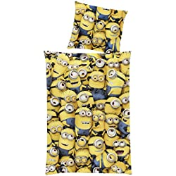 "Global Labels, Set di lenzuola ""Minions"", Multicolore (Mehrfarbig), 135 cm x 200 cm"