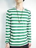 (モノマート) MONO-MART 4color Uネック ボーダー カットソー Tシャツ コットン メンズ