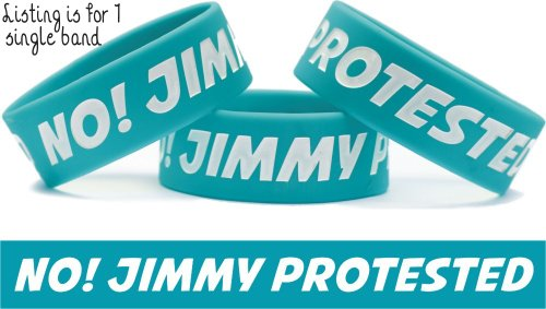 No Jimmy Protested Wristband One Direction Bracelet